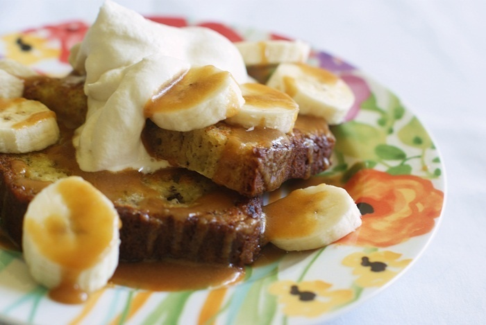 ... Toast with Peanut Butter Maple Syrup (and brown sugar whipped cream