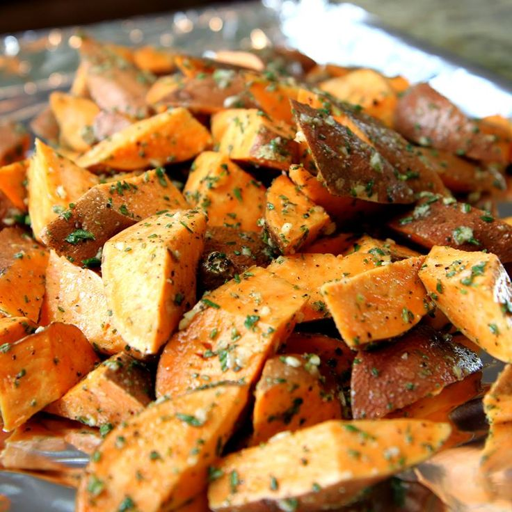 sweet potato fries? Check out these Rosemary Roasted Sweet Potatoes ...