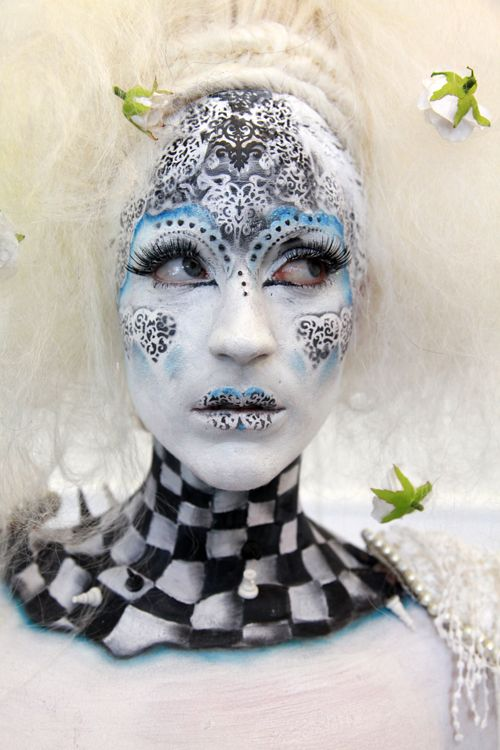 Alice in Wonderland beauty/fantasy competition make-up at the 2010 IMATS Los Angeles