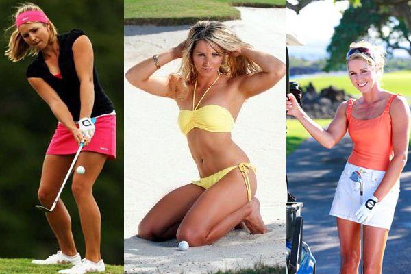 hot nude lady golf