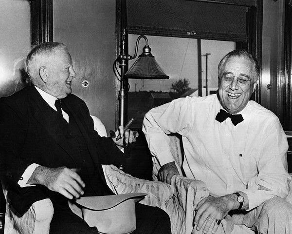 FDR Presidency. Vice President John Nance Garner with US President ...