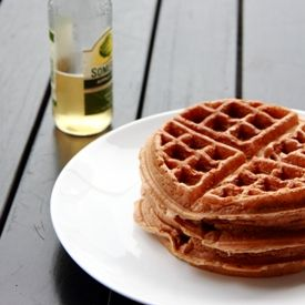 Apple Cider Waffles - Crispy outside, chewy and fluffy inside...