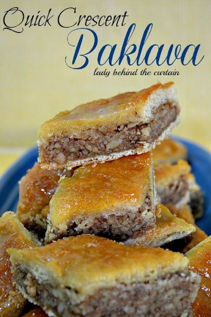 Crescent baklava with many variations   Good things to eat!   Pintere ...
