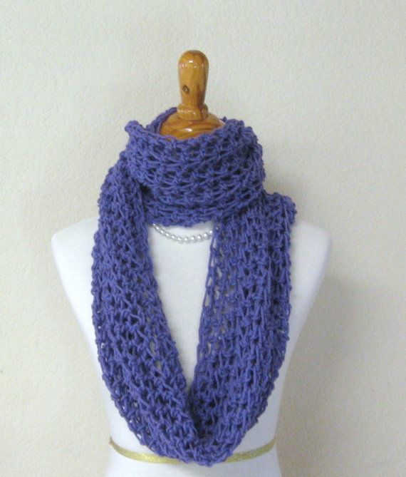 PURPLE SCARF Spring Summer SHAWL Fashion Crochet by marianavail 23  Summer Scarves Knit Crochet