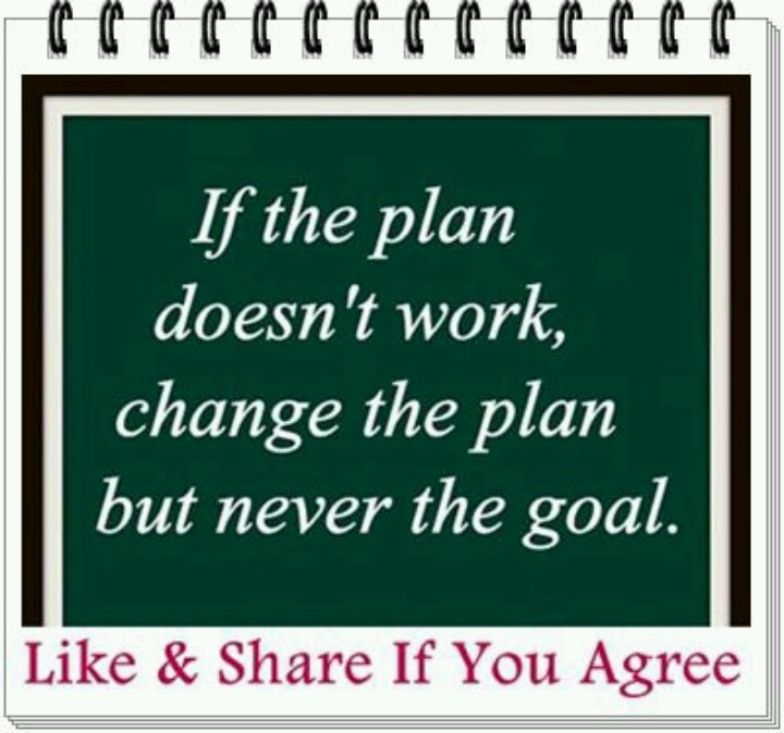 Change the plan but not the goal Got A Quote Pinterest