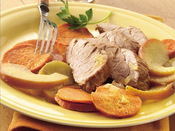 Roast Pork with Apples and Sweet Potatoes | Recipe