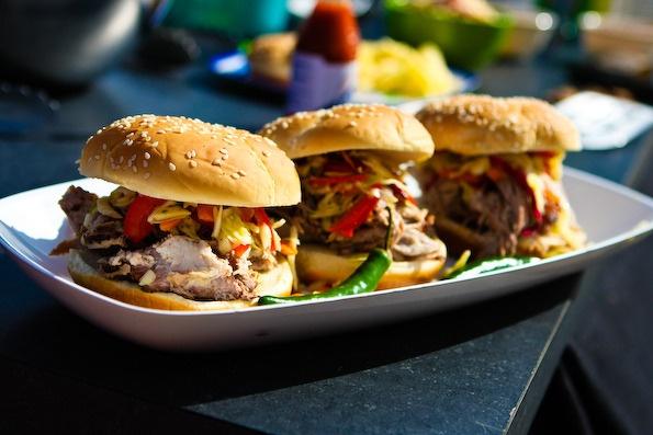 Carolina Barbecued Pulled Pork Sandwiches