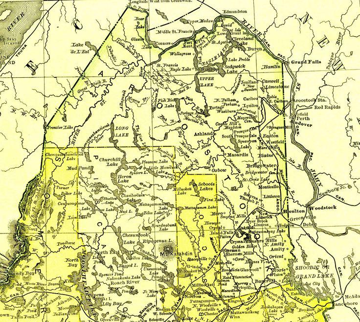 Map of Aroostook County Maine