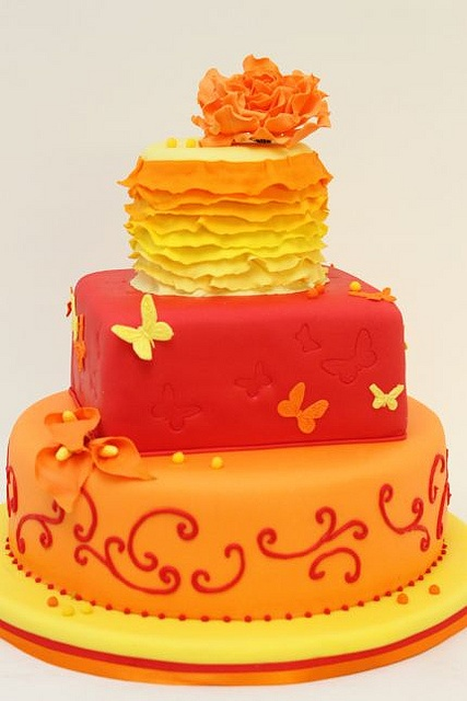 More like this: yellow wedding cakes , orange cakes and yellow ...