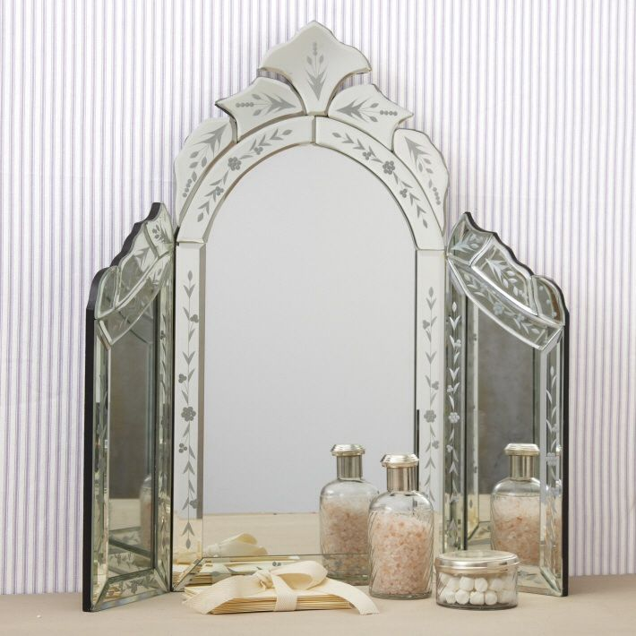 ... Style Venetian Mirror, tri-fold design is perfect for Vanity
