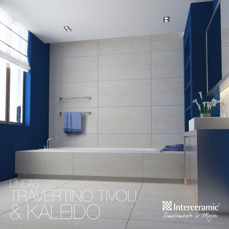 Baños Estilo Travertino:colores y texturas que puede tener el #mármol de tipo travertino