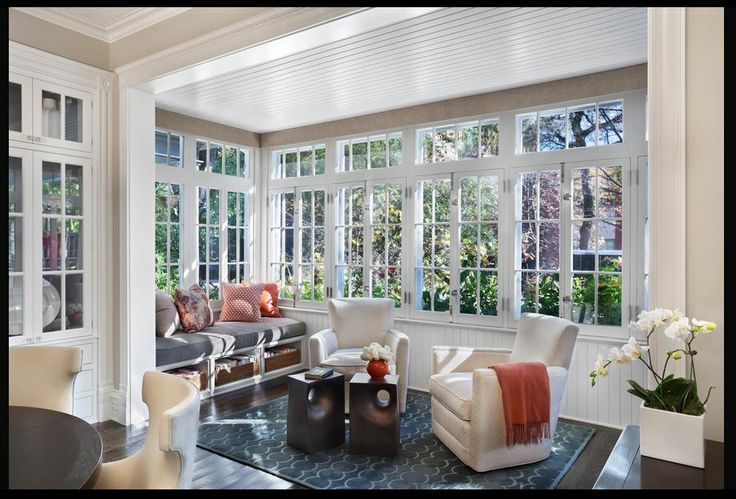 Sunroom ideas windows trim design sunroom ideas for Sunroom decor
