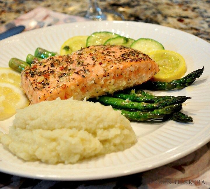 Truffle herbed salmon and cauliflower | Food Junkie | Pinterest