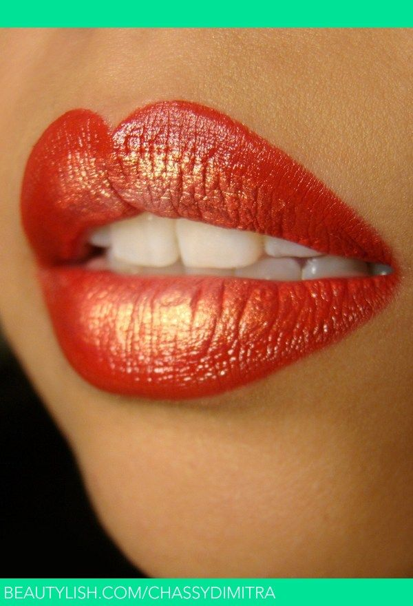 Red and Gold Lips | Chassy D.'s (chassydimitra) Photo | Beautylish