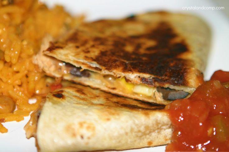 Black Bean and Corn Quesadillas | Recipes | Pinterest
