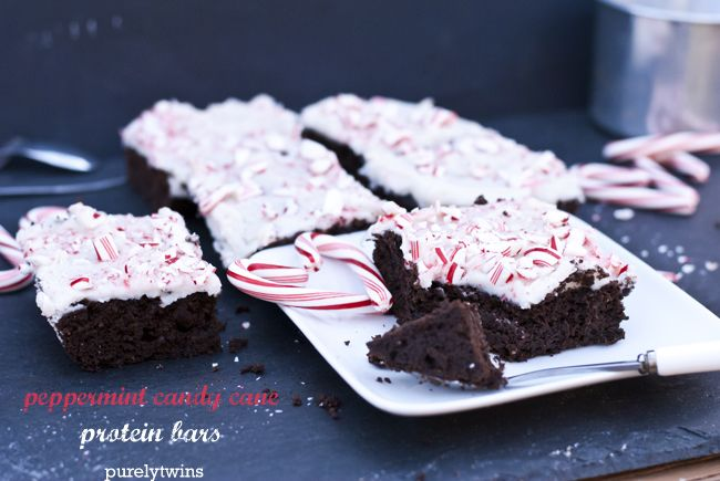 Peppermint Candy Cane Protein Brownie Bars (gluten-free, grain-free ...