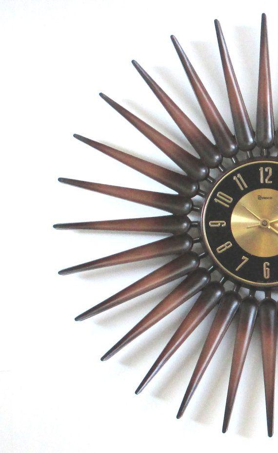 mid century modern starburst wall clock