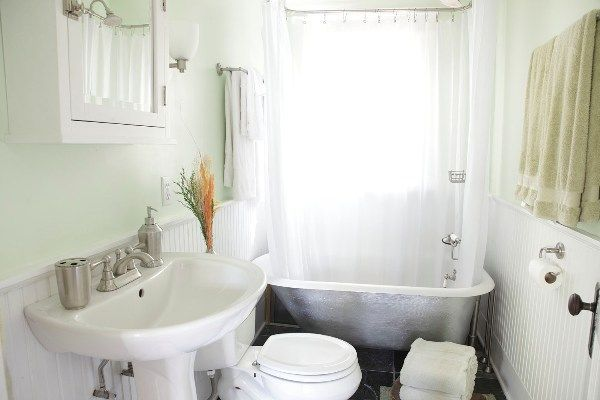 Modern Clawfoot Tub Shower Design Ideas Cabin Pinterest