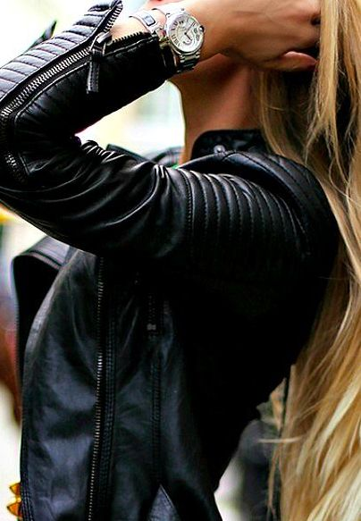 leather jacket <3