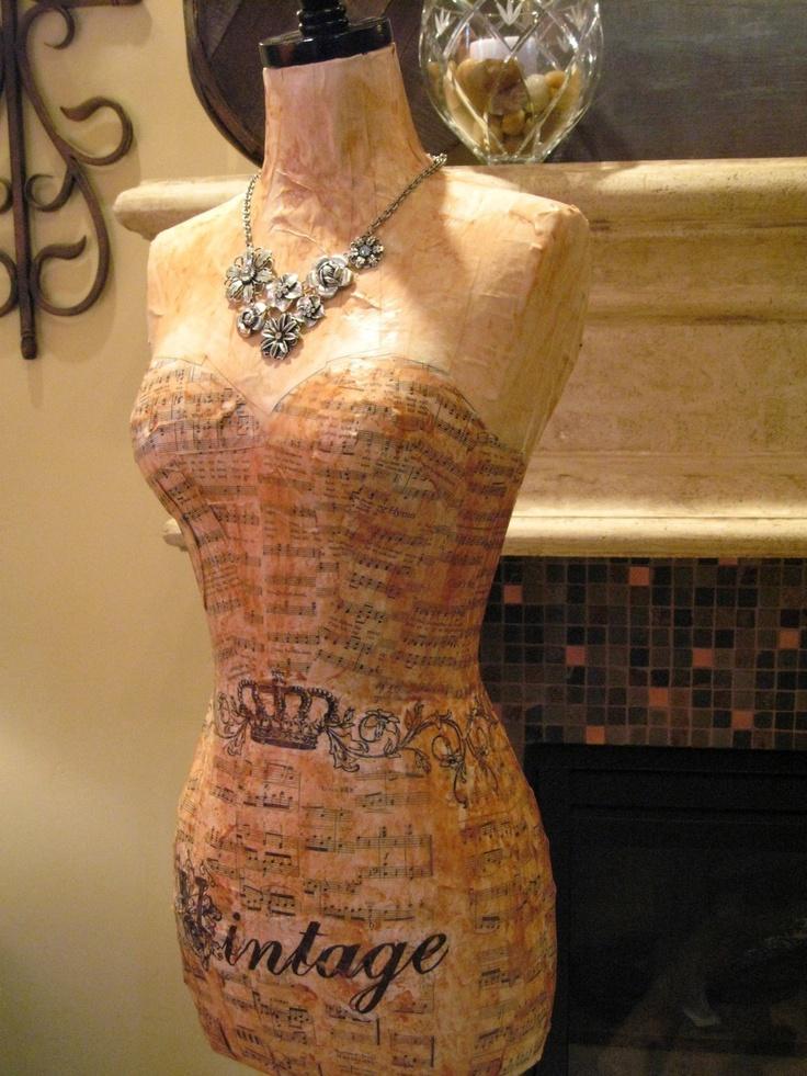 Vintage Couture Dress Form Art Decor Mannequin  by autumnlady18, $299.00