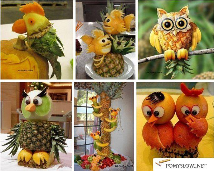 Dekoracje z owoców - Pomyslowi.net