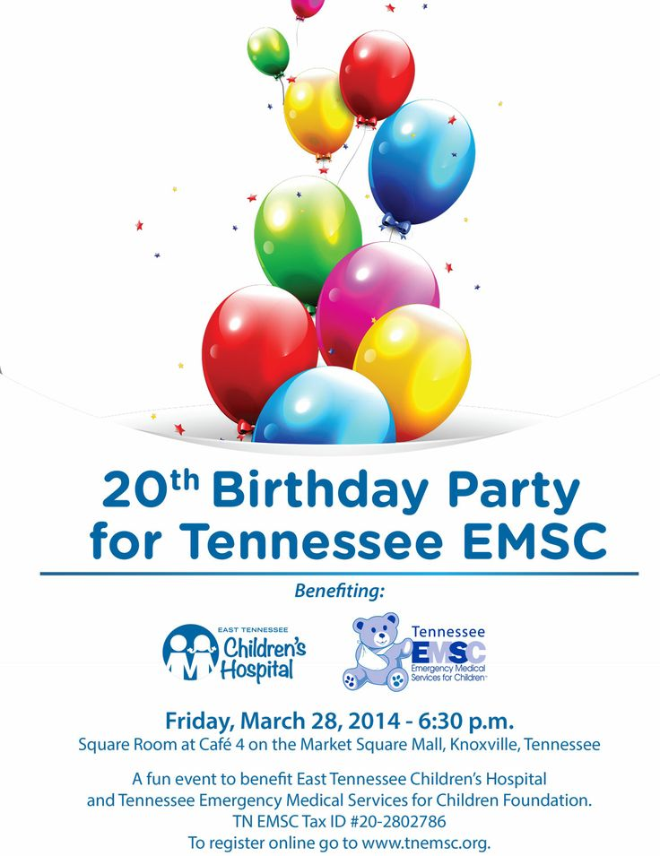 March 28, 2014: 6:30 p.m. at The Square Room at Café 4 on the Market Square Mall, Knoxville, Tennessee. A fun event to benefit East Tennessee Children's Hospital.