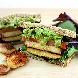 TLT - Tempeh, Lettuce, and Tomato Sandwich
