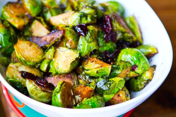 Cranberry Balsamic Brussel Sprouts | Vegetables | Pinterest