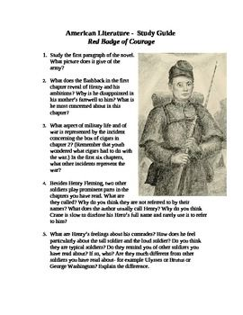 red badge of courage essay questions