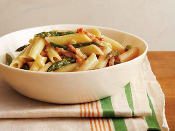 "Penne with Asparagus and Prosciutto"" from Cookstr.com"
