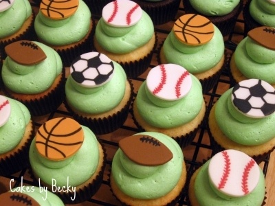 Sports Cupcake Ideas 5