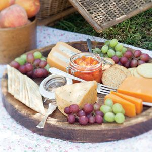 Picnic by the Lake | A cheese tray is an simple appetizer that everyone can enjoy while relaxing by the lake.