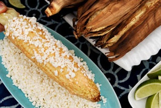 grilled corn w cayenne, lime and cotija @Marianne Celino Leon