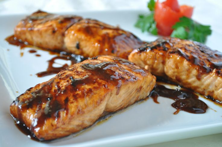 Glazed Salmon- let it cook a little before putting the high heat to ...