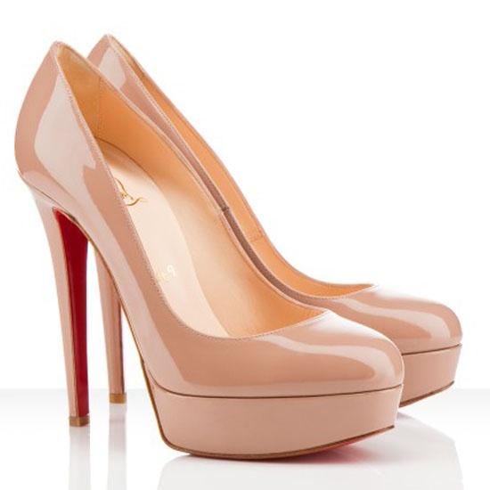 christian louboutin nude platform pump shoes pinterest. Black Bedroom Furniture Sets. Home Design Ideas