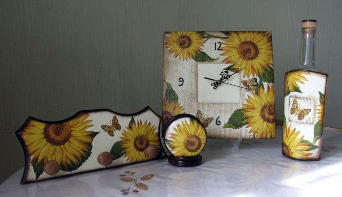 Кухонные наборы -декупаж, фото подборка