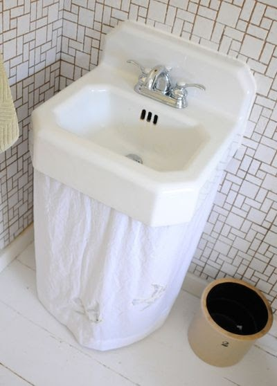 sink skirt our happy home. Pinterest