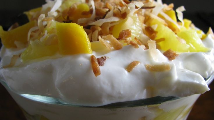 mango colada parfait | sweets for my sweets | Pinterest