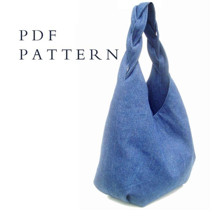 Tote Bag Pattern: Denim Hobo Bag Pattern
