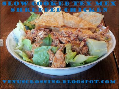 Slow cooked Tex Mex Shredded Chicken #Clean recipe with just a few ...