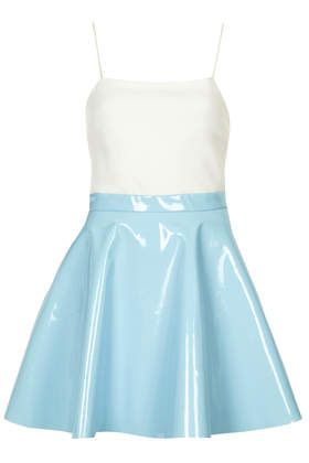 baby blue pvc skirt my style pinboard