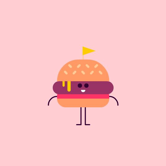 Animated cheeseburger gif
