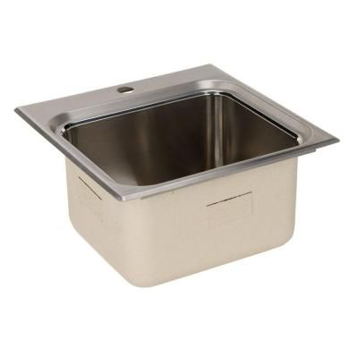 ... .25 1-Hole Single Bowl Utility Sink-K-3260-1-NA at The Home Depot