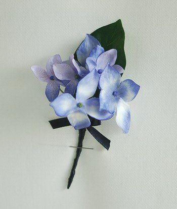 Blue Hydrangea Boutonniere | wedding ideas | Pinterest Blue Hydrangea Boutonniere