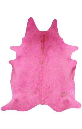 Rugs USA Natural Solid Cowhide Pink Rug
