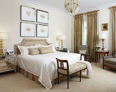 Bedroom Idea In Neutral Tones New Traditional With Contemporary Twi