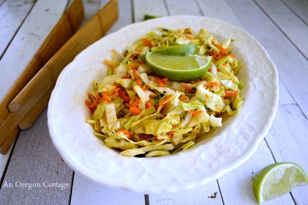 Spicy Cumin Lime Coleslaw - An Oregon Cottage
