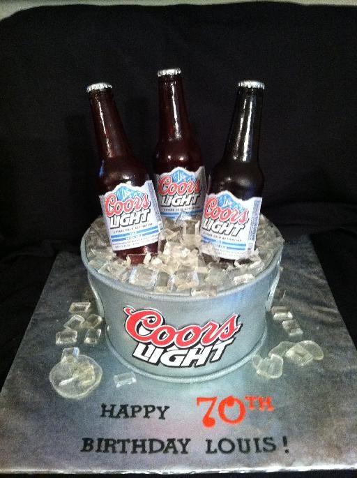 coors light birthday cake