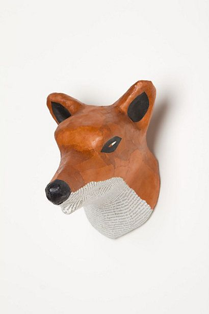 Savannah Story Bust, Fox #anthropologie