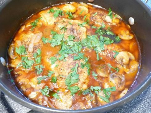 Braised Chicken Thighs With Button Mushrooms Recipe - Food.com ...